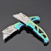 XANES® 150 / 160mm Klappmesser SK5 Klinge Colorful Trapezförmiges Kunstmesser aus Titanlegierung für den Außenbereich mit 10-teiliger Ersatzklinge
