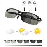 Gafas de sol Día y noche Uso doble Cambio de color Gafas Conducción de visión nocturna pesca Gafas