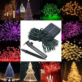 Waterproof Solar Powered 12M 100LED String Fairy Light Garden Party Decoração de Natal