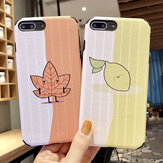 Fashion Color Matching TPU Protective Case Back Cover for iPhone X / XS / XR / XS Max / 6S / 6S Plus / 7 / 8 / 7 Plus / 8 Plus