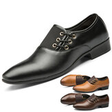 Men's Casual Office Formal Work Loafer Pointed Toe Business Dress Non Slip Shoes