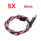 5X Amass 60 Core 90cm Anti-off Servo Extension Wire Cable For Futaba