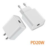 Bakeey PD 20W ładowarka USB-C ue wtyczka amerykańska szybkie ładowanie dla iPhone 12 12Pro 12Mini Huawei P30 P40 Pro Mate 40 Pro