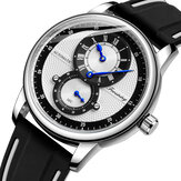 FORSINING FSG8203 Fashion Men Automatic Watch Creative Dial Leather Strap Mechanical Watch