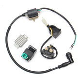 Ignition Coil+5 Pin CDI+Regulator+Solenoid For 110cc 125cc Quad Dirt Bike ATV