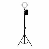 16cm LED Video Ringlicht 5500K Dimmbar mit 160cm verstellbarem Lichtstativ für Youtube Tiktok Live Streaming