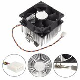 4PIN 12V Socket PWM 7 Ventilator Computer CPU Cooler Aluminium Heatsink AMD Koper Core
