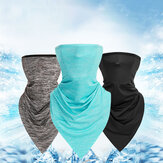 Ice Silk Triangle Scarf Summer Thin Turban Sunscreen Scarf Bandana Balaclava Neck Gaiter Neck Tube UV Resistant Quick Dry Lightweight Materials Cycling for Adults