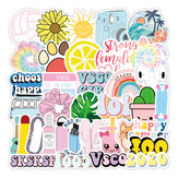 50 Pcs Various Beauty Graffiti Stickers Waterproof Decorative Stickers For Suitcase Laptop Guitar Refrigerator