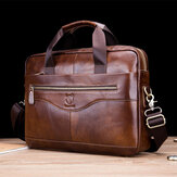 Bullcaptain Men Vera Pelle Vinatge Handbag Business Borsa