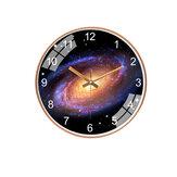Parede de galáxia de 12 polegadas / 30 cm Star Space Relógio Silent Living Room Quarto criativo suspensão Relógio Home Office Ornament