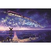 1000 قطعة من أحجية الصور المقطعة من ستار Sky Ocean Train Series