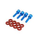 4 PCS M3 Screw Column + 8PCS Damping Rings Spare Part for Strech X5 AstroX X5 Frame Kit RC Drone FPV Racing