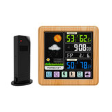 TS-3310-WG Full Touch Screen Wireless Weather Station Multi-function Color Screen Indoor and Outdoor Temperature Humidity Meter Clock Weather Forecast Station