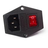 SIMAX3D® 15A 250 V Chave de alimentação de 3 pinos CA Tomada com fusível para impressora 3D