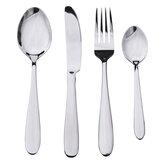 4 Pcs Talheres de Aço Inoxidável Louça Talheres Garfo Colheres Conjunto de Talheres para Cozinha Ferramenta de Mesa de Jantar