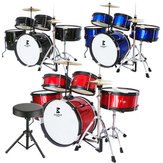 Jeanpole Musical Drum Kit Set Toy Musical Kids Instrument Boy Junior Instruments