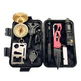 SOS معدات مغامرة بقاء بطانية أدوات عدة متعددة الوظائف بقاء البوصلة صندوق الإسعافات الأولية