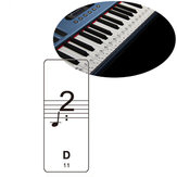 Transparent Piano Keyboard Note Sticker Suit For 61/88 Key Electronic Keyboard