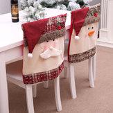 Lepèrenoëlabrodéla couverture arrière de la chaise pour la décoration de la cuisine du dîner de cuisine de Noël