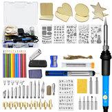 87Pcs 110V~240V 60W DIY Adjustable Temperature Electric Soldering Iron Welding Tool Kit
