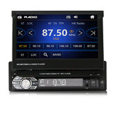 9601G 7 Polegada 1DIN Wince Car MP5 Player Retrátil Flip Rádio Estéreo bluetooth GPS USB AUX com Câmera de Backup
