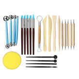 24pcs Ball Stylus Dotting Tools Clay Pottery Modeling Carving Rock Painting Kit