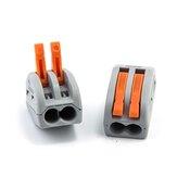 20PCS 2Pin PCT-212 Mini Fast Alambre Conectores Cableado universal compacto Bloque de terminales push-in