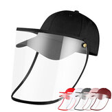 Detachable Anti-Saliva Dustproof Full Face Protection Hat Outdoor Face Shield Screen Protective Safety Mask