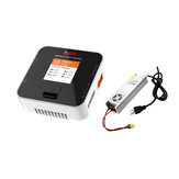ISDT Q6 Nano BattGo 200W 8A Lipo Battery Charger White Color With LANTIAN 24V 16.6A 400W Power Supply Adapter