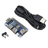 Catda 4 Ports USB HUB for Extension Board USB to UART for Serial Debugging for Raspberry Pi 4 /3B /Zero W