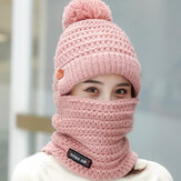 Women Winter Warm Plush Thicken Knit Beanie Hat