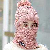 Cappello invernale da donna in caldo cappello di lana lavorato a maglia