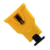 Yellow Chainsaw Teeth Sharpener Plastic Chainsaw Sharpener Bar-Mount Chainsaw Chain Sharpening Kit