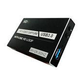 HD USB3.0 Video Yakalama Kartı 4K 1080P HD Oyun Canlı Kayıt Kutu One HD Döngü Taşınabilir Video Dönüştürücülü Sesli Mikrofon Bağlantı Noktası