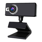 Bakeey SY03 480P HD USB Webcam Conference Live Manual Focus with LED Night Vision Fill Light Plug and Play Computer Camera Built-in Noise Reduction Microphone for PC Laptop