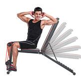 KALOAD 7-Gänge-Rückenlehnenverstellung Multifunktionale Hantelbank Home Gym Sit-up Flachbank Max. Belastung 300 kg