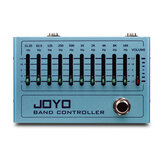 JOYO R-12 Band Controller Equalizer 10 Band EQ Pedal for Guitar & Bass, Guitar Effect Pedal, 31.25Hz to16kHz, True Bypass