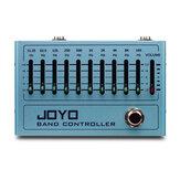 JOYO R-12 Banda Equalizador do controlador 10 Banda Pedal EQ para guitarra e baixo, Pedal de efeito de guitarra, 31,25 Hz a 16 kHz, True Bypass