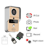 KONX 720P Smart Home WiFi Video porteiro telefone intercom Doorbell com RFTD Card Peephole Câmera