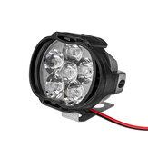 2 pcs 4/6/9 LED 9-85 V 10 W Preto Faróis Da Motocicleta Moto Condução Nevoeiro Spot Ligh + Interruptor