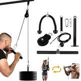 9 Adet/takım Fitnes Kasnak Sistemi LAT Kaldırma Çekme Makinesi Biceps Curl için Geri Omuz Önkol Triceps Uzantıları Egzersiz Yükleme 300 lbs