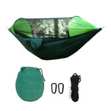 290x145cm Outdoor Camping Hammock Automatic Quick Open Mosquito Net Rain Cover Hanging Swing Bed Max Load 200kg