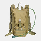 Men Oxford Cloth Tactical Camouflage Outdoor Riding Climbing Sport Water Bottole Pocket Backpack