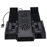 2 Vortex Fan Cooling Stand for X Box One x Console Cooling Double Charging Rack for X Box One