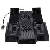 2 Vortex Fan Cooling Stand для X Коробка One x Консольное охлаждение Двойная зарядная стойка для X Коробка One