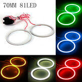 70MM COB LED Angel Eyes Lights Halo Ring Lamp 12V-24V 300LM for BMW