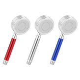 High Pressure Anion Aluminum Shower Head Water Saving Filter Blue/Red/Silver