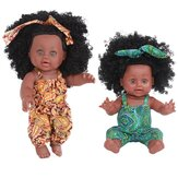30CM 12 Inch Cute Soft Silicone Lifelike Realistic Arms Legs Moveable Reborn African Baby Doll