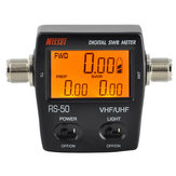 RS-50 Digital SWR/Watt Meter NISSEI 125-525MHz UHF/VHF M Type Connector for TYT Kenwood Baofeng LED Screen Radio Power Counter